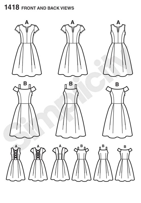 pattern review best patterns 2014 simplicity 1418 misses dress with bodice variations