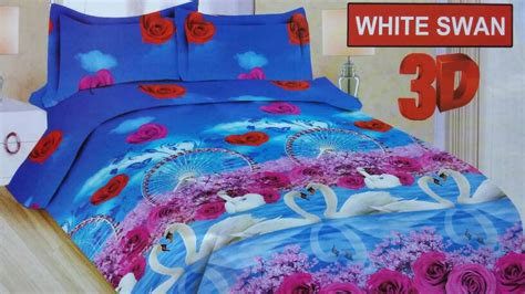 Sprei Bonita Disperse 3d White Swan grosir supplier reseller dropship dan retail baju sprei bed cover termurah