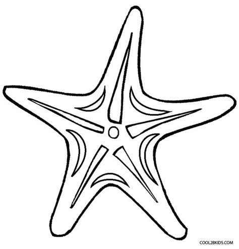 free coloring pages of starfish