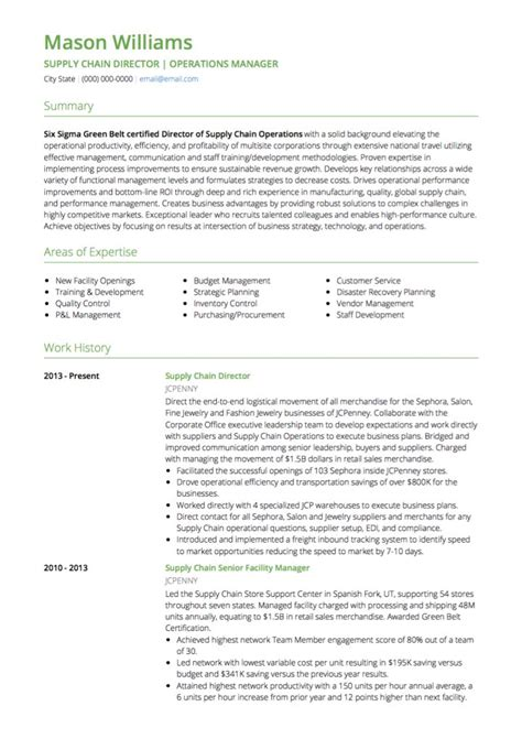 management cv exles and template