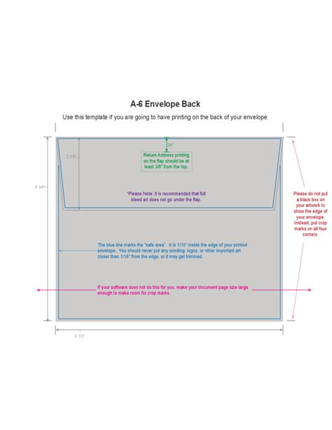 a6 envelope exle free download