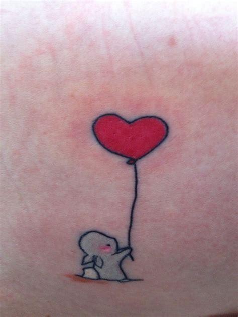 red rabbit tattoo rabbit with balloon