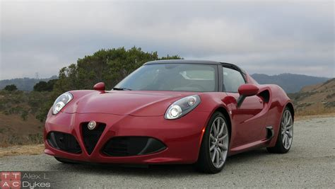 2016 alfa romeo 4c spider review with video