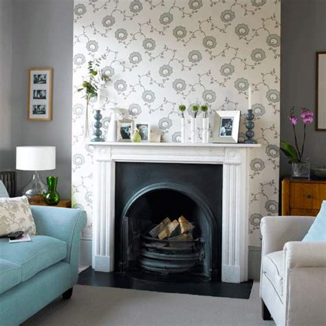 wallpaper for fireplace wall how to wallpaper a chimney breast ideal home