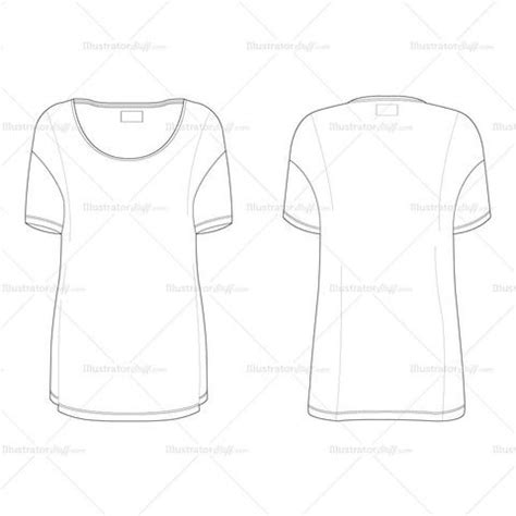 T Shirt Flat Sketches by S Oversized T Shirt Fashion Flat Template Fashion