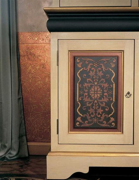 Stencils For Cabinet Doors with Stencil Designs For Kitchen Cabinets Cabinet Stencil Design Pic 13 Ideas For The House