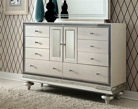 hollywood swank bedroom furniture hollywood swank pearl dresser by aico aico bedroom furniture