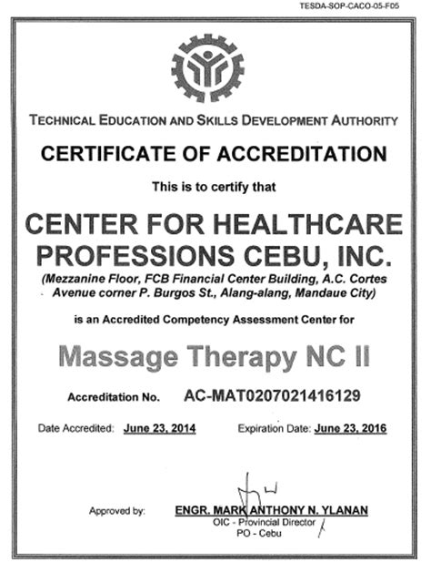 Endorsement Letter Nso Center For Healthcare Professions Cebu Inc Assessment