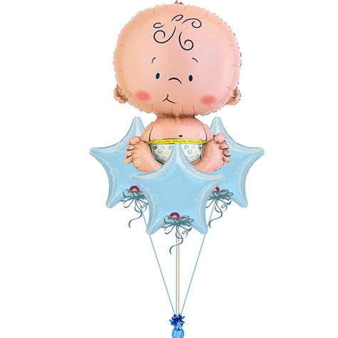 Baby Shower Balloon Bouquet by Baby Boy Balloon Bouquet Delivered Helium Filled Baby