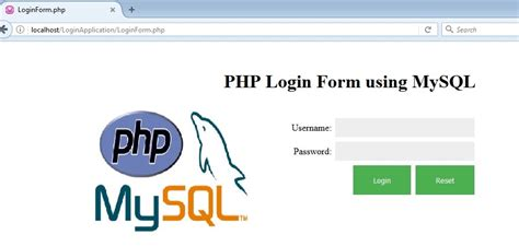validate mysql date format php login page in php with database and validation