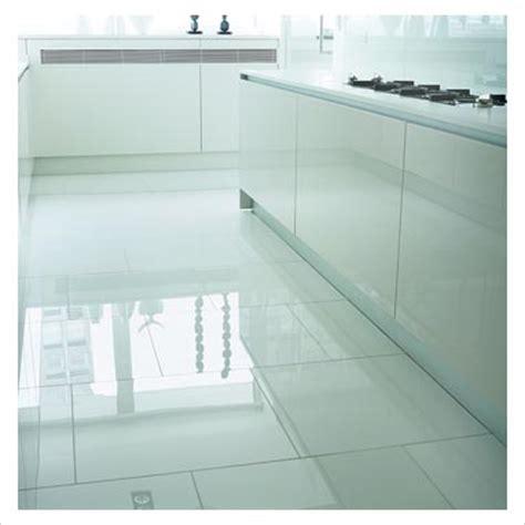 glossy white floor tile