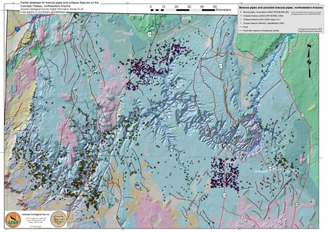 map of central arizona central arizona geology club june 2015