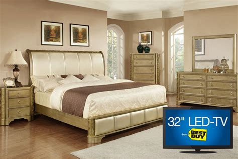 bedroom set with tv golden 5 piece queen bedroom set with 32 quot led tv at