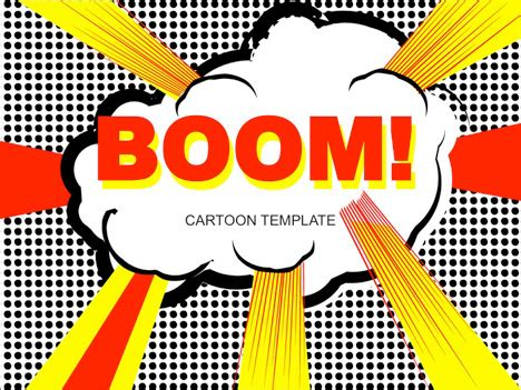 Cartoon Pop Art Template Comic Powerpoint Template