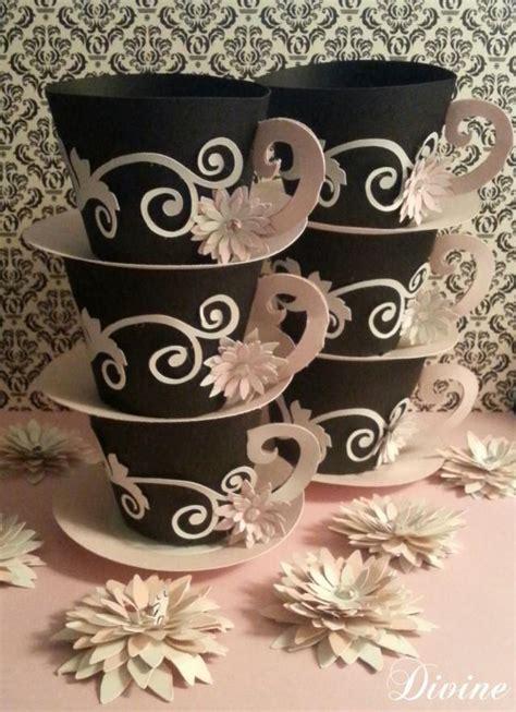 customized tea cup favors set of 12 tea party decor 2 5