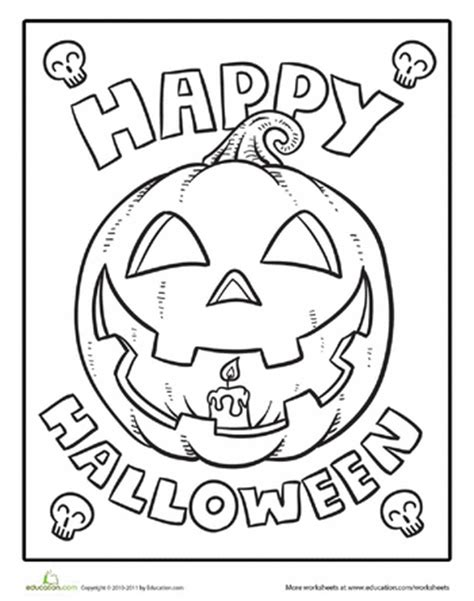 colouring pages happy halloween color the happy halloween happy halloween worksheets