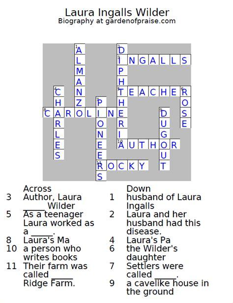 Brief Closing Words Crossword Garden Of Praise Ingalls Wilder Biography