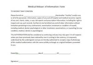 personal information release form template release forms templates in word and pdf format