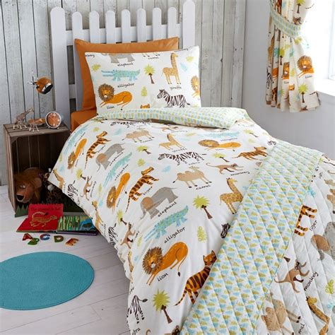 Cot Duvet Cover Sets My Safari Animals Junior Toddler Bed Duvet Cover Set New