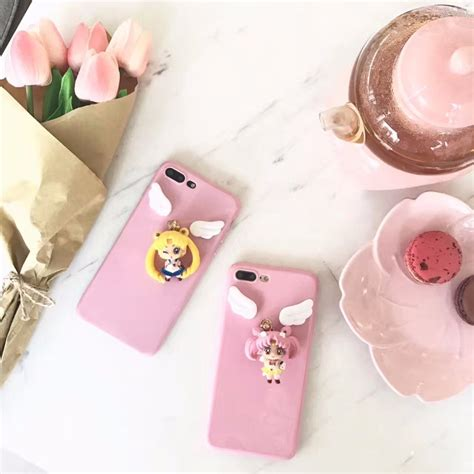 Japan Doll Softcase For Iphone 55s 1 new japanese anime 3d pink sailor moon soft silicone