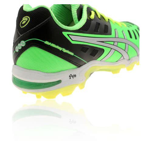 asics gel hockey typhoon 2 hockey shoes mens green asi3449