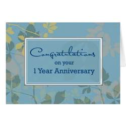 employee 1 year anniversary congratulations greeting cards zazzle