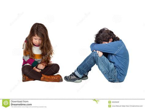 imagenes de niños alegres y tristes ni 241 os tristes foto de archivo imagen 40026828