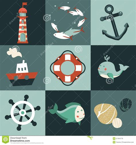 vector design royalty free stock images image 6446689 vector set with nautical design elements royalty free stock images image 27404779
