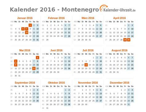 Freitag Kalender 2016 Feiertage 2016 Montenegro Kalender 220 Bersicht