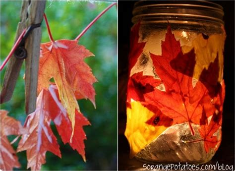 30 cool ways to use autumn leaves for fall home d 233 cor luminary 10 fun crafts using autumn leaves diy