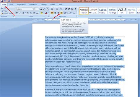 membuat halaman kanan kiri di word cara membuat tulisan di ms word rata kanan rata kiri