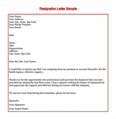 Resignation Letter Organization Resignation Letter Voluntary Resignation Letter From Employer Resignation Letter From Club Or
