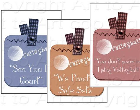 printable volleyball name tags volleyball sayings tags digital image collage 144 crafts