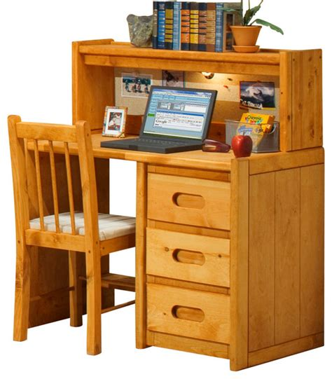 Student Desks With Hutch Chelsea Home 3 Drawer Student Desk With Hutch And Chair In Cinnamon Traditional Baby And