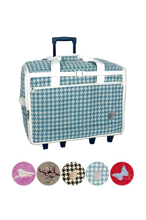 Colmar20 Travel Pounch Series bluefig designer series ds23 large wheeled sewing machine travel bag in sabrina