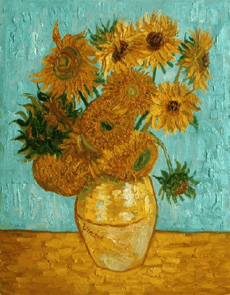vincent gogh vase with twelve sunflowers gogh biyografi