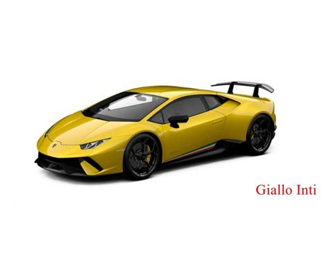 What Colors Do Lamborghinis Come In Lamborghini Huracan Performante Different Colors By Mr