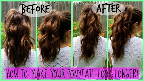 puttin in weave to make ah ponytail in ah short hair with shave sides how to make your ponytail look longer no extensions
