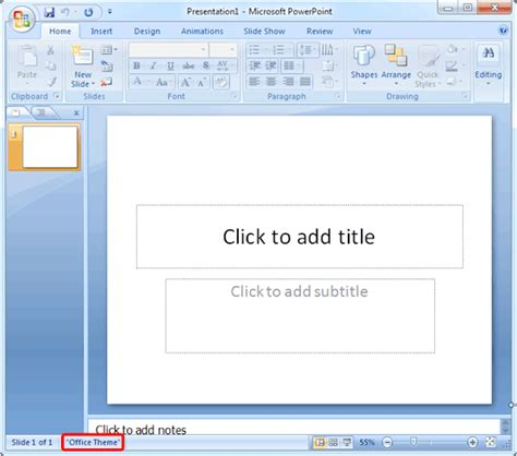 Change The Default Template Or Theme In Powerpoint 2007 Powerpoint Replace Template