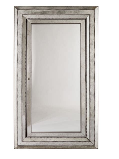 hooker furniture m 233 lange glamour wall mounting full length mirror with felt lined storage