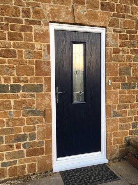 blue composite front door danetre glass