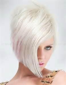 Short Hairstyles With Long Bangs Asymmetrical Bob