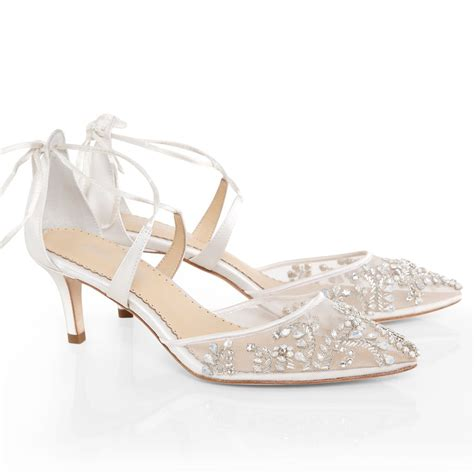 Wedding Shoes With Heel Detail by Frances Wedding Shoes Low Heel