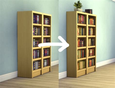 mod the sims towering intellect bookshelf edits