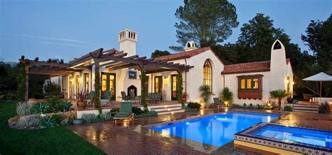 House Plans With Pool Courtyard by New Spanish Colonial Revival Allen Construction