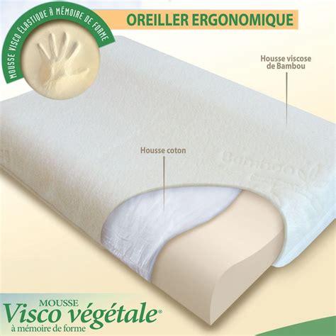 oreillers ergonomique oreiller ergonomique 224 m 233 moire de forme