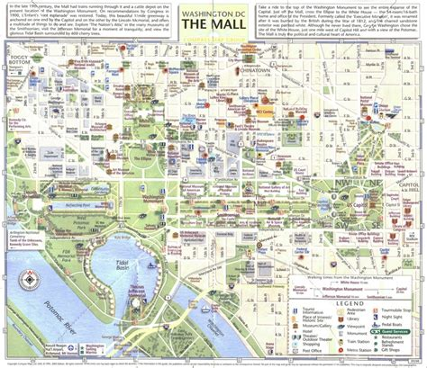 washington dc map national mall map of the national mall washington d c
