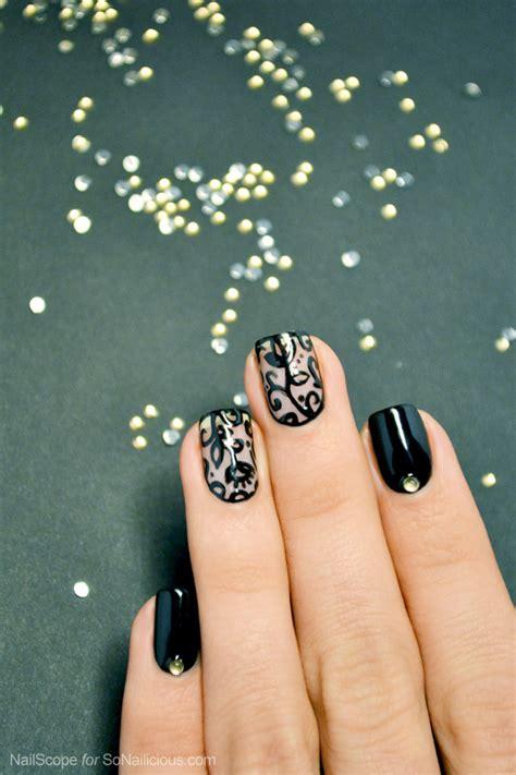 nail art lace tutorial black lace nail art tutorial