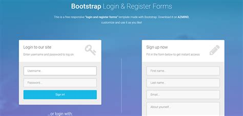 bootstrap themes login bootstrap login and register form bootstrap themes