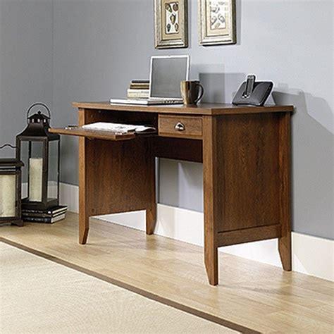 Computer Desk With Slide Out Keyboard Shelf Sauder Shoal Creek Collection Oak Computer Desk With Slide Out Keyboard Shelf 410416 The